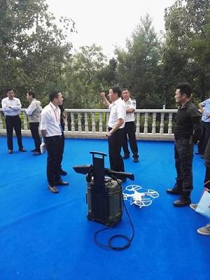 云南省公安厅胡副厅长对灵信科技无人机干扰器提出宝贵意见