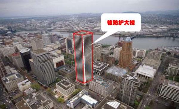 单建筑群区域防护图